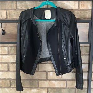 Athropologie  leather moto jacket.